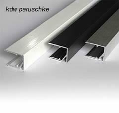 alu abschlu leiste ungeschlitzt 16 mm home lichtpaneele r. Black Bedroom Furniture Sets. Home Design Ideas