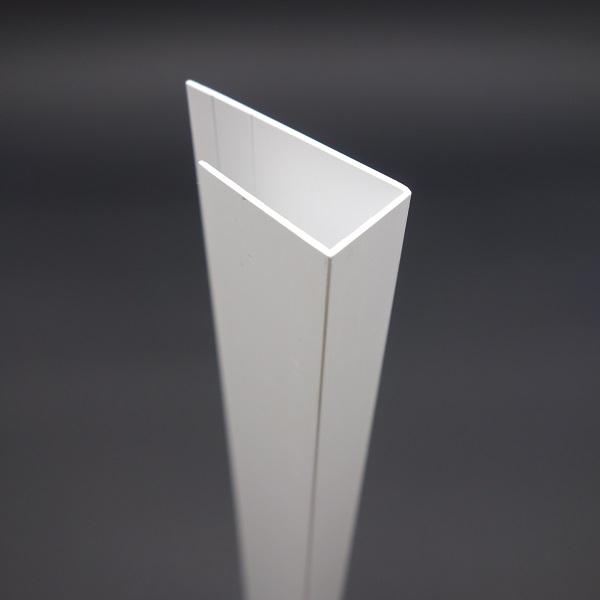 pvc u profil aus kunststoff 17 mm g nstig kaufen paruschke. Black Bedroom Furniture Sets. Home Design Ideas