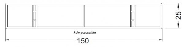 balkonbretter robust 15 cm breite in silbergrau aus kunststoff. Black Bedroom Furniture Sets. Home Design Ideas