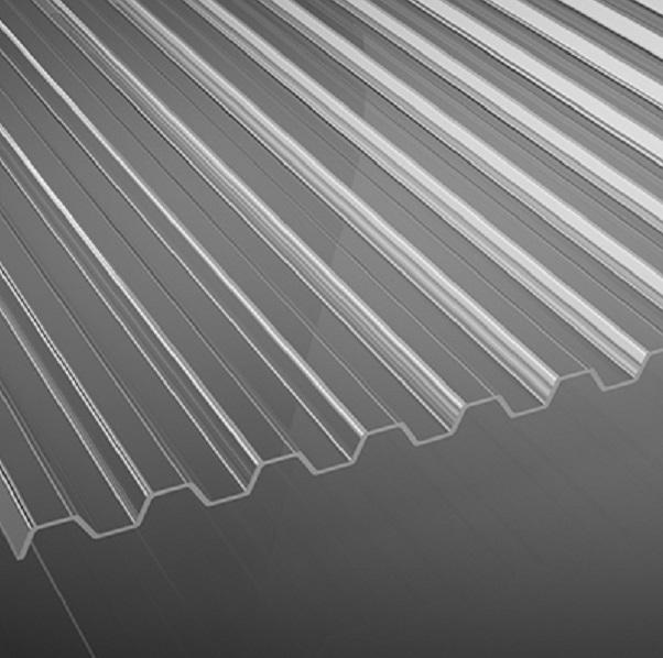 trapezplatten aus polycarbonat in klar 0 9 mm profil 76. Black Bedroom Furniture Sets. Home Design Ideas